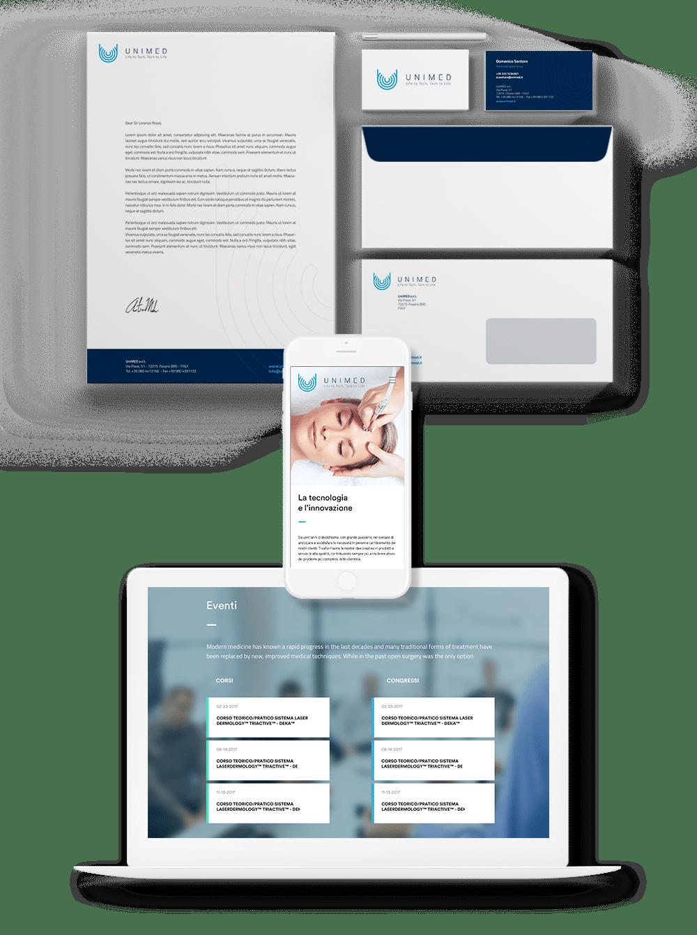 unimed mockup web design